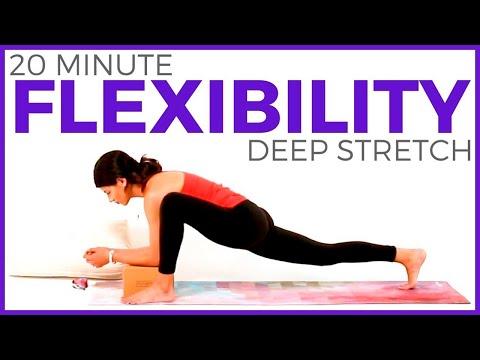 20 min DEEP STRETCHING Yoga for Flexibility, Hip Flexors, Quads, Hamstrings | Sarah Beth Yoga