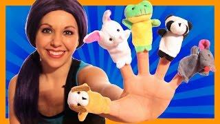 Finger Family - Animal Finger Family - Nursery Rhymes for Children with Lyrics