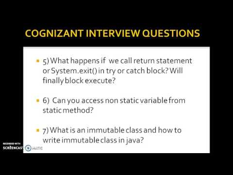 Cognizant java interview questions for freshers and experienced