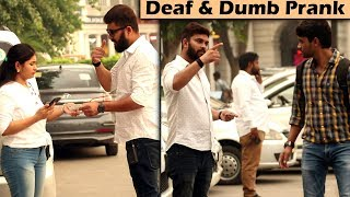 Acting Deaf & Dumb Prank | Prank in India | Unglibaaz