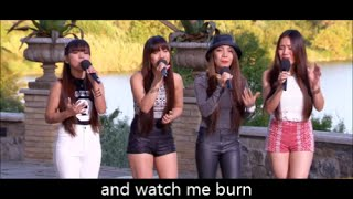 4th Impact+Lyrics!!! Love The Way You Lie | The X Factor UK 2015