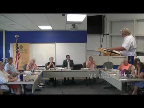 Andy Garshott Speaks at Algonac Schools Special Meeting