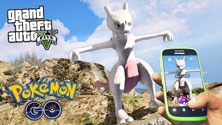 GTA 5 Mods - CATCHING MEWTWO POKEMON GO MOD!! GTA 5 Pokemon GO Mod Gameplay! (GTA 5 Mods Gameplay)