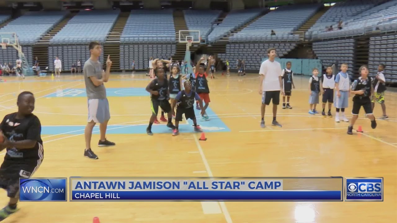 Antawn Jamison back at UNC for his All Star Basketball Camp