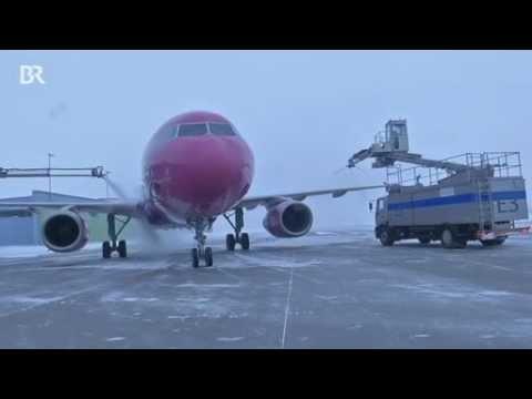 Allgäu Airport Reportage Winter Am Flughafen Memmingen München West Schnee Eis Und Kälte