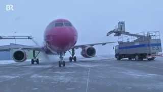 Allgäu Airport Reportage - Winter am Flughafen Memmingen (München-West) - Schnee Eis und Kälte