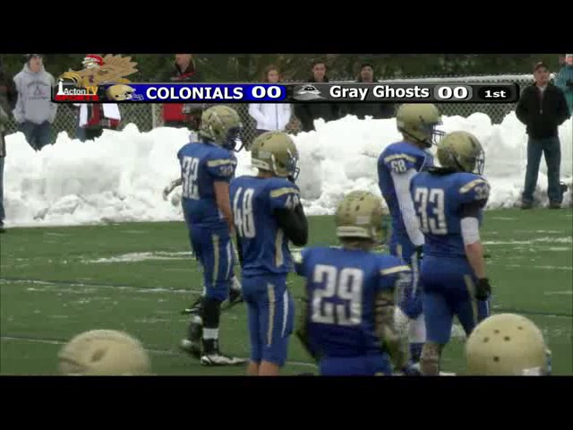 Colonials Football vs Westford 11/27/14
