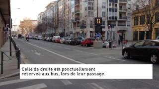 Un couloir de bus dynamique en test à Lyon 3e