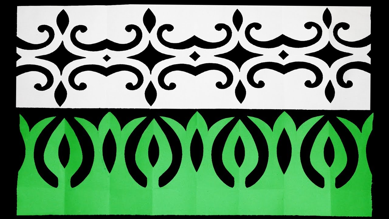 2 Beautiful Paper Border DIY-How to make Easy paper cutting border design step by step#paperCraft