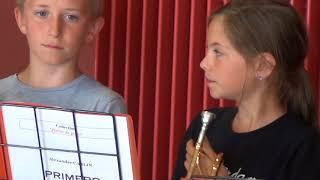 Répétition de l'Ecole municipale de musique de Valognes avec Le quintette de cuivres Magnifica
