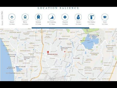 Kanakia Wall Street, Andheri East, Mumbai, Location Map