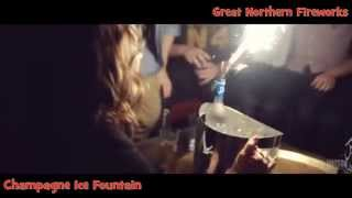 Champagne Ice Fountains - Great Northern Fireworks - Leeds