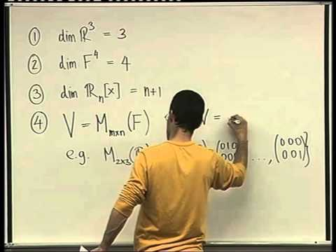 33 -  The dimension of a vector space