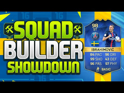 FIFA 16 SQUAD BUILDER SHOWDOWN!!! TEAM OF THE SEASON IBRAHIMOVIC!!! 98 Rated Zlatan Squad Duel