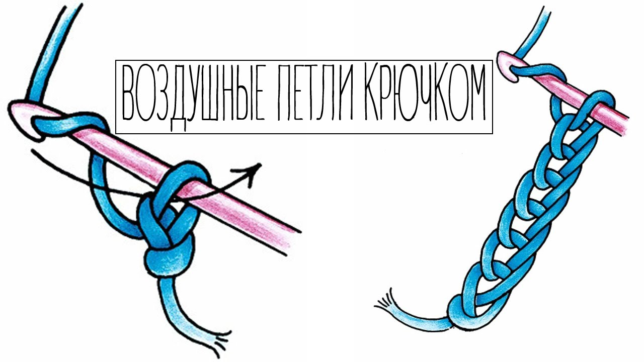 Вязание крючком - Воздушные петли!