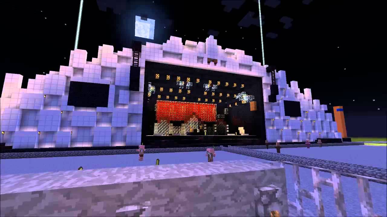Minecraft Rock In Rio A7X Stage YouTube