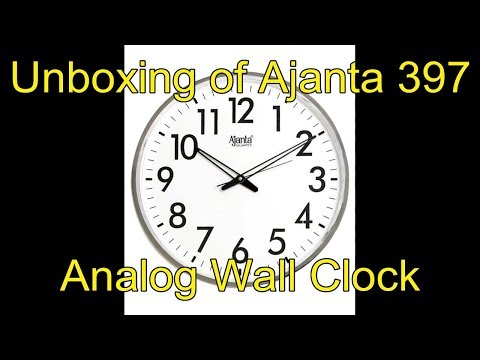 Unboxing Video of Ajanta 397 Analog Wall Clock from Flipkart