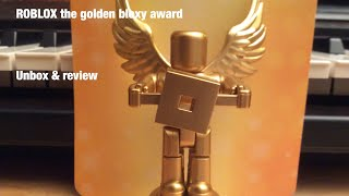 ROBLOX the golden bloxy award toy core pack Celebrity Series 2 , Unbox & Review!/ first unbox & rev.