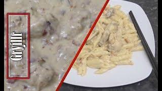Garlic Chicken Wings and Pasta Easy Recipe
