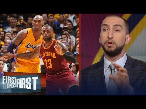 Nick Wright on Kobe Bryant's Tweet about LeBron after Cavs beat Boston | NBA | FIRST THINGS FIRST