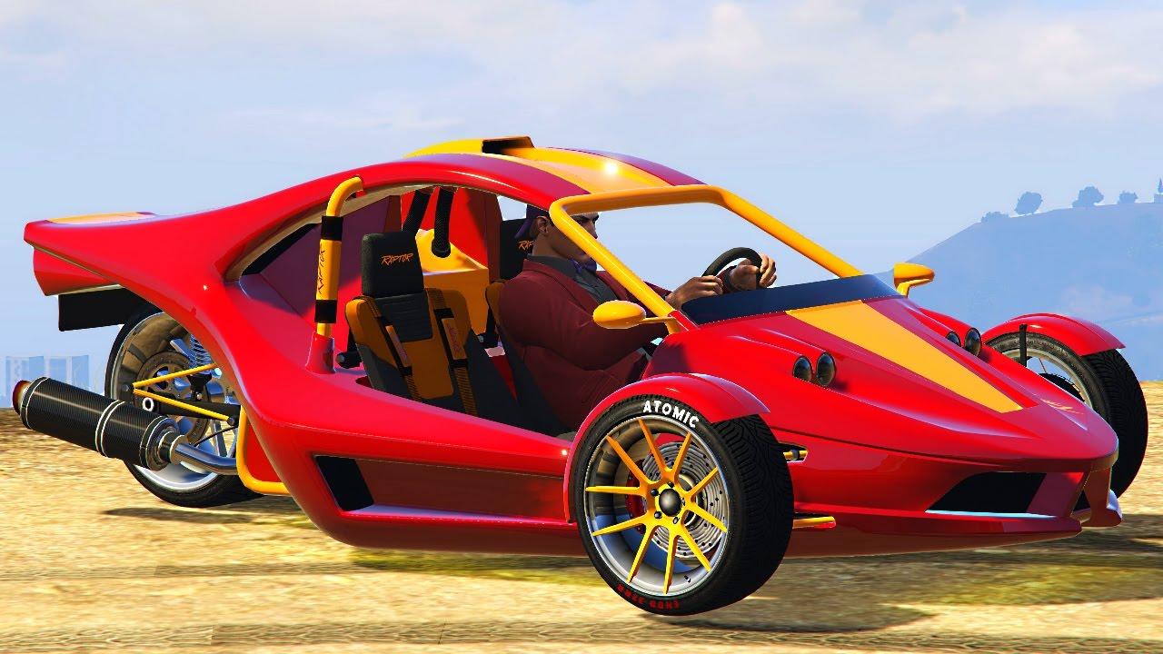THREE WHEELED CAR DLC!? (GTA 5 Funny Moments)