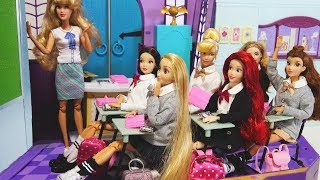 Download Barbie Rapunzel doll School Morning Routine - Snow White & Ariel School Life - Mp3 and Videos