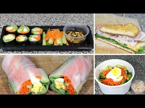 How to | 3 Back to School Quick & Easy Healthy Lunch Ideas | Eva Chung