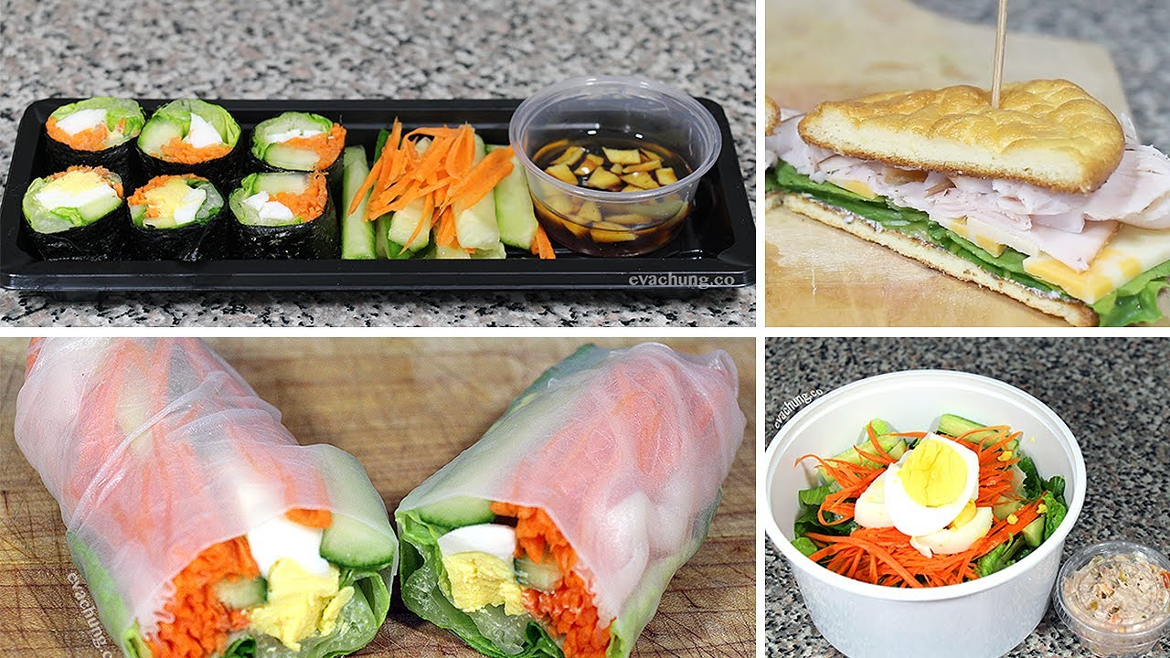 How To 3 Back To School Quick Easy Healthy Lunch Ideas Eva Chung Youtube