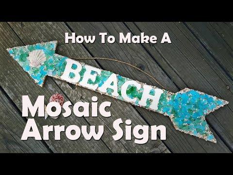 Mosaics How To Make Sea Gl Mosaic Sign