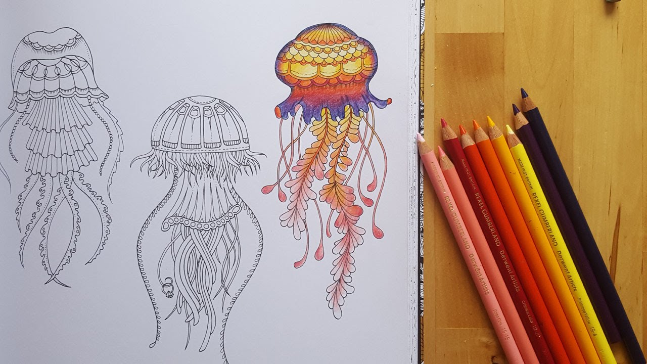 Lost Ocean Speed Coloring Jellyfish