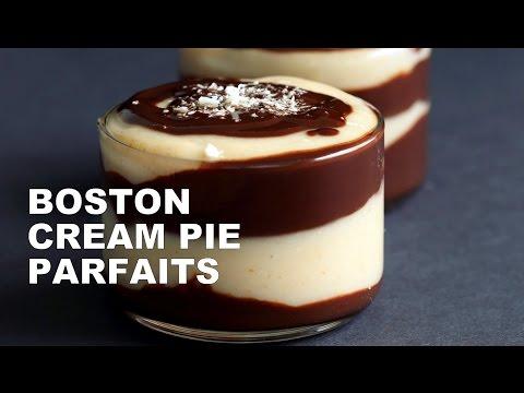 Vegan Boston Cream Pie Parfaits - VeganRicha.com