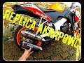 Unboxing + montage + sound test : NEW akrapovic replica 125cbr FR