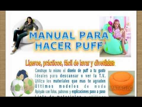 + Patrones Imprimibles Para Hacer puffs Paso A Paso, Puff Pera, Puff ...