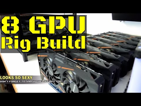 Custom Built Crypto Mining Rig - 8 Gigabyte RX580 4GB GPUs