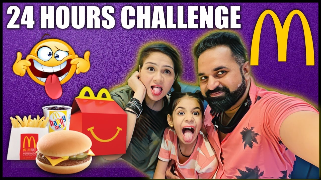 Letting the Person in FRONT of us DECIDE what we EAT for 24 hours Challenge | Harpreet SDC