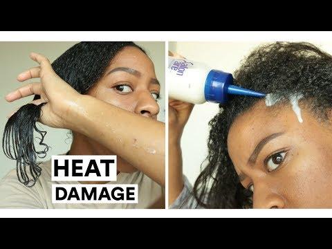 HEAT DAMAGE!? HA HA | Wash Day w/ Coconut Milk & Aloe Vera