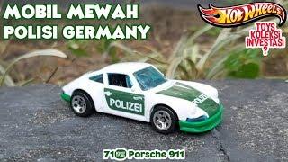 MOBIL POLISI  MEWAH dari GERMANY  71'PORSCHE 911 Hotwheels 2019 - Mainan Mobilan Berfaedah untuk In