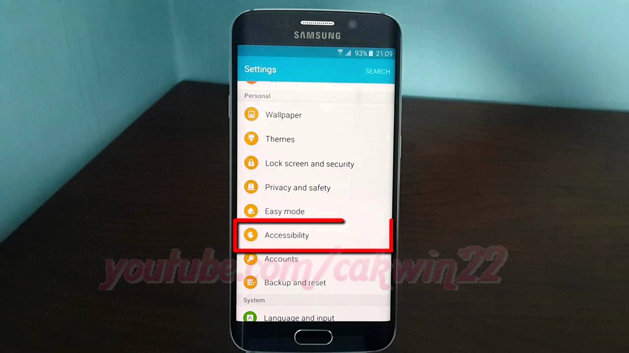 Android Lollipop : How to enable or disable Accessibility shortcut on  Samsung Galaxy S6