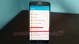 Repeat youtube video Android Lollipop : How to enable or disable Accessibility shortcut on Samsung Galaxy S6