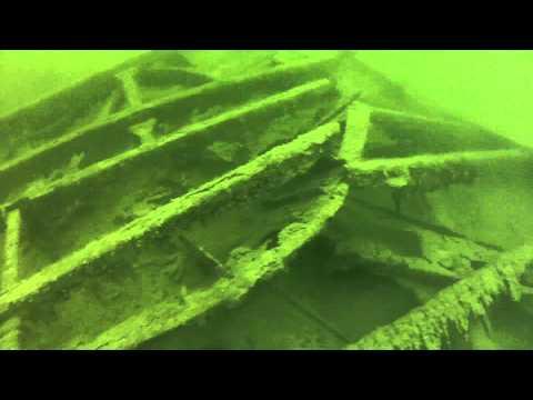 Mologa side paddle wheel wreck, 2014