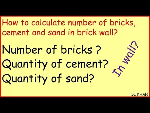 How To Calculate Number Of Bricks, Cement And Sand In Brick Wall?