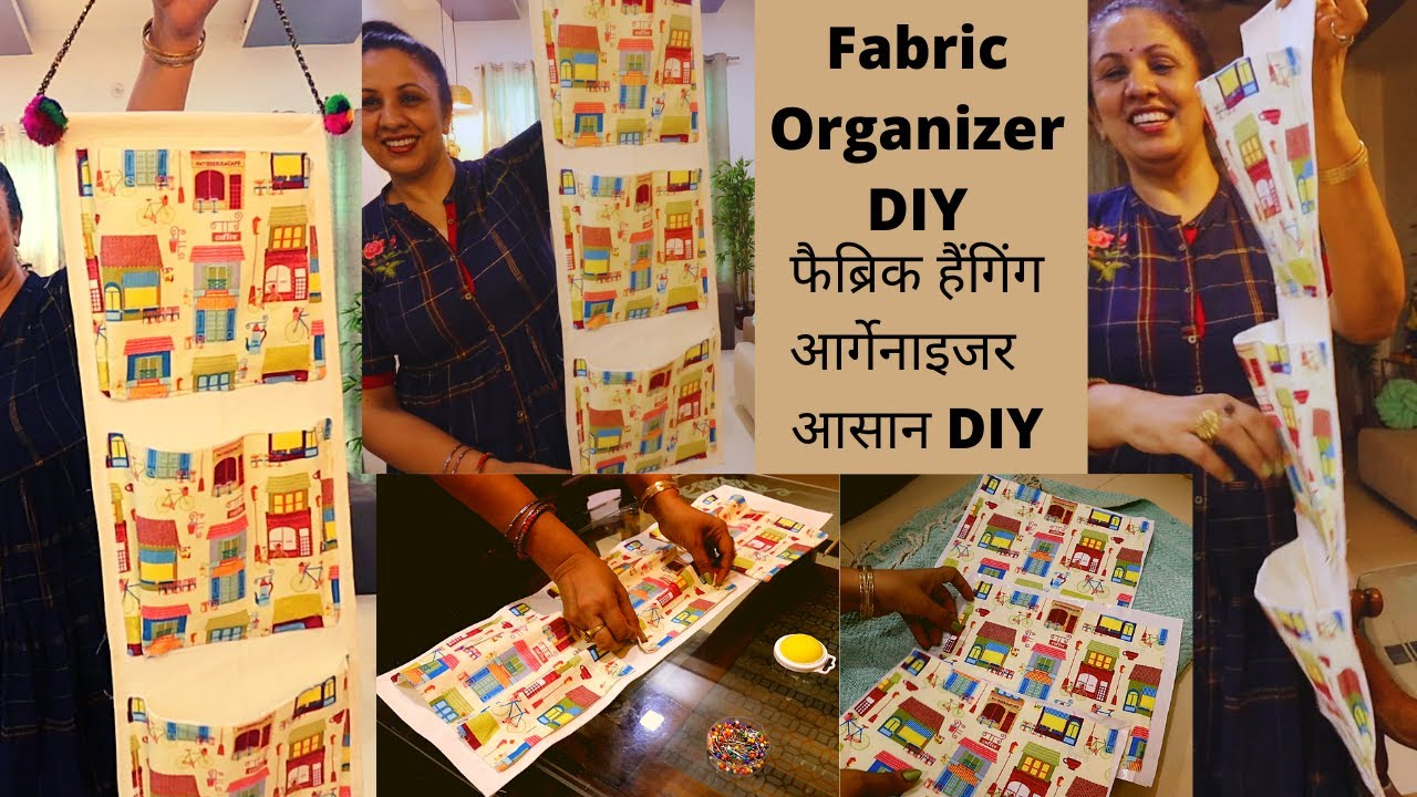 Easy Hanging Fabric Organizer || Multi Use || Home & Kitchen Organizer|| Organizer from Waste ||DIY