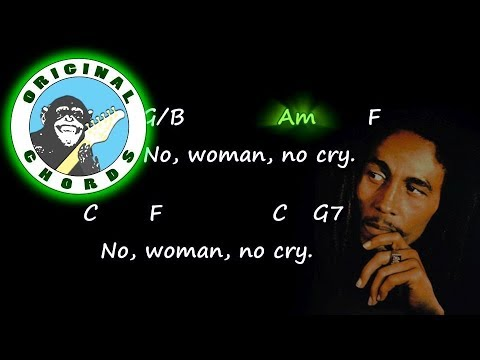 Bob Marley - No Woman No Cry - Chords & Lyrics - YouTube