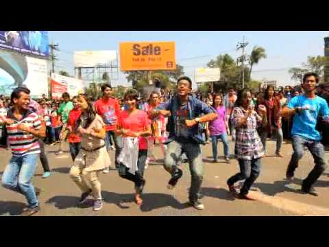 ICC World Twenty 20 Bangladesh 2014, Flash Mob  Chittagong University