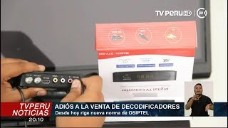 Osiptel: venta o alquiler de decodificadores está prohibido desde hoy tras normativa