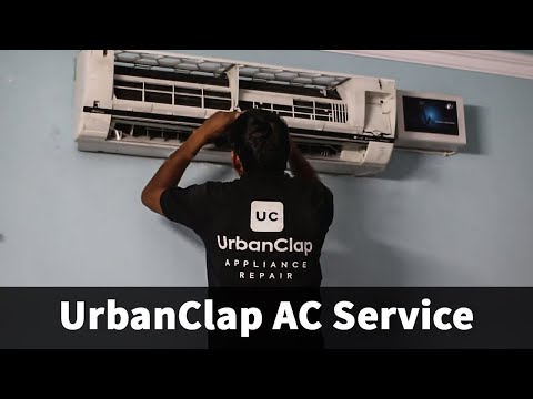 UrbanClap AC Service by Water Jet Pump at Home | Cleaning Split AC | Review