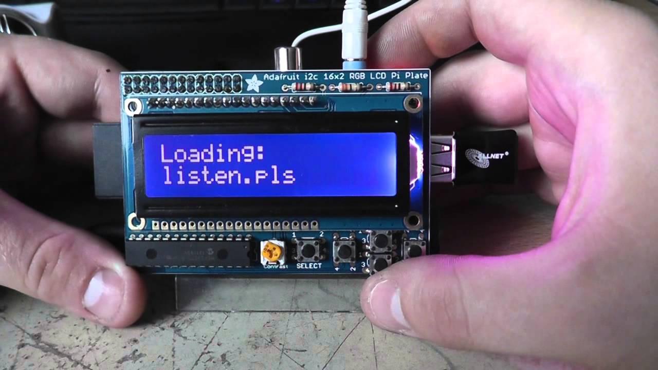 Raspberry PI Internet Radio mit Adafruit LCD plate