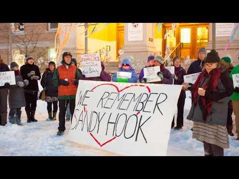 Gun Sense Vermont vigil for Newtown shooting victims
