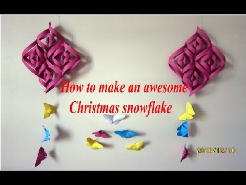 Paper Crafts - How to make a paper snowflake - How to make a perfect snowflake