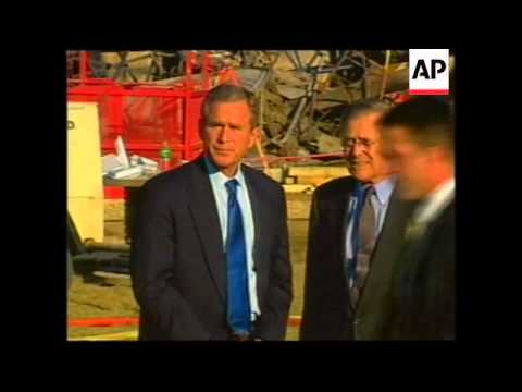 President Bush visits scene of Pentagon attack